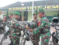 Kodim Jembrana Terima 7 Unit Trail Untuk Menunjang Operasional Babinsa
