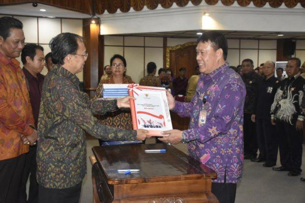 Pemkot Denpasar Terima DIPA 2020 dan Dana Transfer Daerah Sebesar Rp.1.018 Triliun