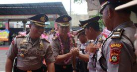 Polres Badung Gelar Apel Pisah Sambut, Kapolres Roby Tegaskan Tingkatkan Patroli Biru