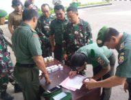 30 Personel Makorem 163/Wira Satya Laksanakan Tes Urine