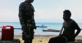 Lagi, Prajurit Posmat TNI AL Flotim Tangkap Nelayan Pengebom Ikan Asal Waiwuring