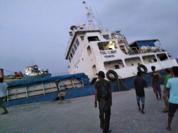 Diseruduk Kapal Maju 8,Lambung Kapal Shimpo 16 Jebol dan Tenggelam di pelabuhan Lewoleba