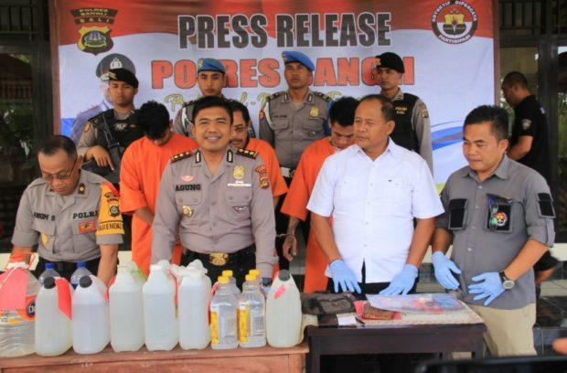 Hasil Pelaksanaan Operasi Pekat Agung II 2019 Polres Bangli Melebihi Target