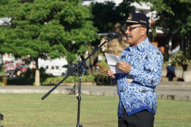 Pemkot Denpasar Gelar Apel Disiplin PNS Awal Tahun 2020