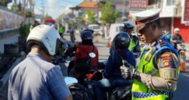 Dua Kendaraan Diamankan dan Belasan Barang Bukti Disita Petugas Saat Razia