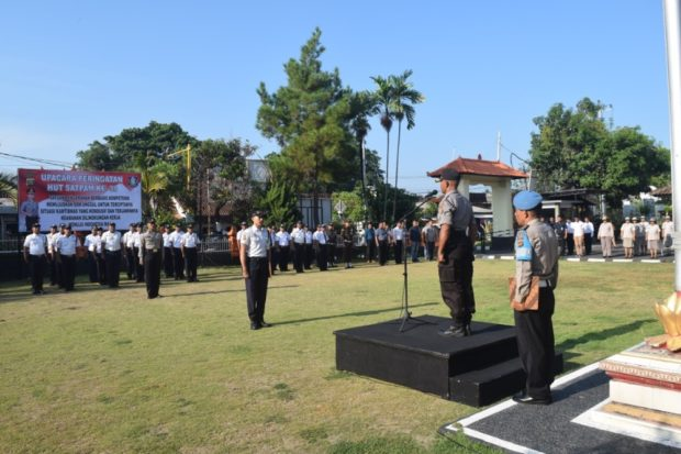 HUT Satpam ke – 39 di Polres Karangasem, Satpam Dituntut Semakin Profesional