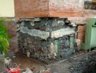 Ini Penyebab Ambrolnya Salah Satu Dinding Pilar Pasar Badung