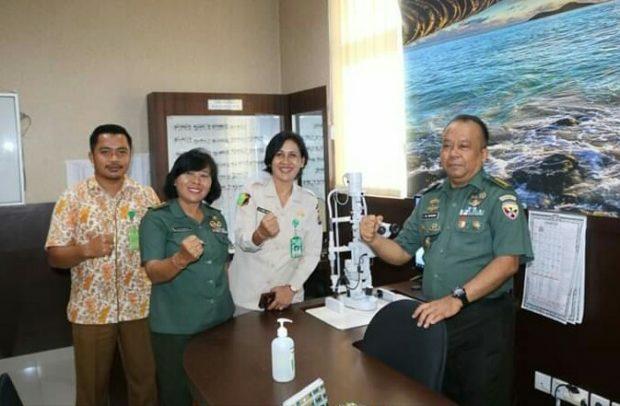 Kepala Rumah Sakit Bhayangkara Denpasar Terima Kunjungan Kakesdam IX Udayana
