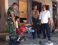 Peduli Anak Yatim Piatu, Bhabin Polsek Abang Polres Karangasem  Salurkan Sembako