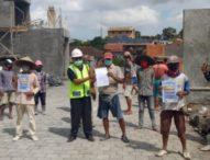 Antisipasi Penyebaran Covid 19, PUPR Denpasar Lakukan Pembinaan Terhadap Pekerja Kontruksi