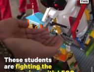 Siswa SD Mengembangkan Robot LEGO Disinfektan